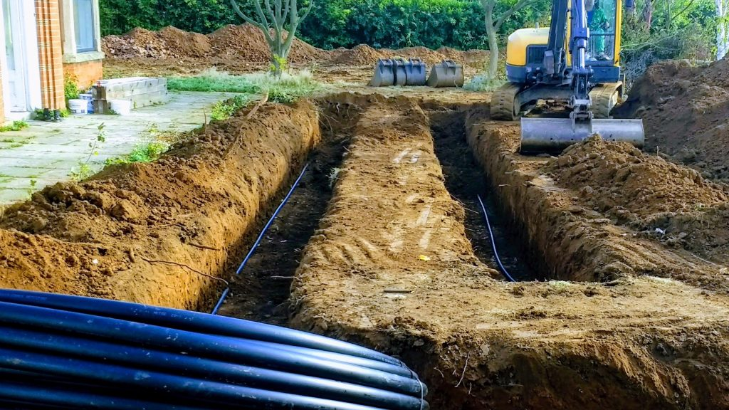 Wide Trench Ground Loop For Ground Source Heat Pump